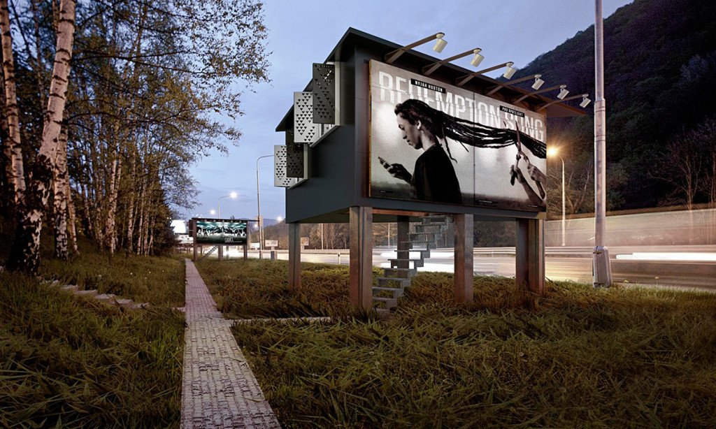 Homeless Housing + Billboards = Project Gregory
