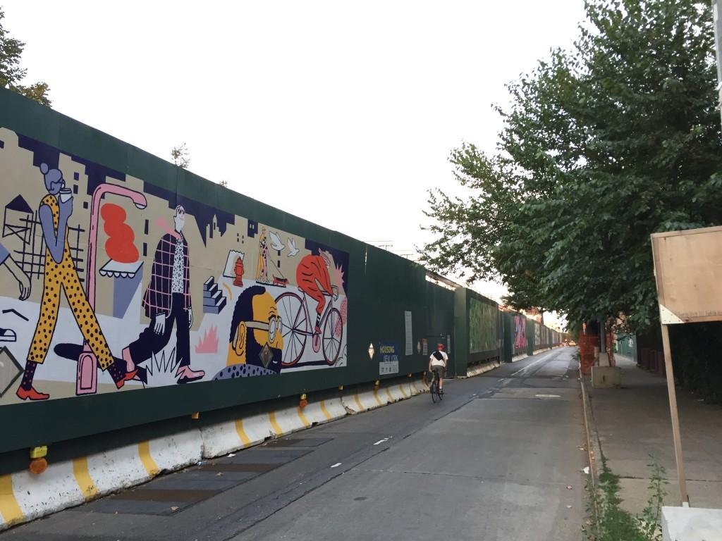 Street Art Beautifies Construction Site